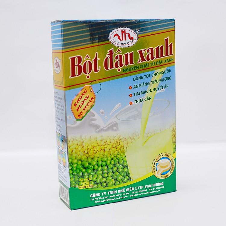 bột đậu xanh không đường hộp 420g